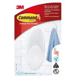 Akcesoria łazienkowe COMMAND (BATH-17), duży, biały - 2881308568