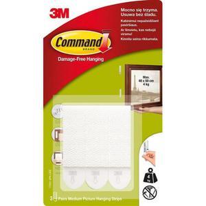 Rzepy Command (17201 PL), do wieszania obrazów, duże, 3 szt., białe - 2881308571