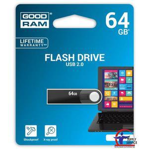 Pamięć USB GOODRAM 64GB USB 2.0 czarny URA2 URA2-0640K0R11 - 2881308642