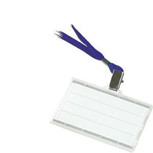 Identyfikator DONAU holder z taśmą - niebieską op.50 - 2881308658
