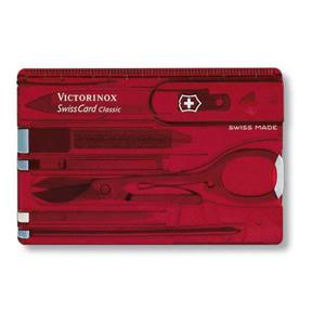 Scyzoryk VICTORINOX Swisscard Classic, celidor, 82mm, transparentny czerwony - 2881308751