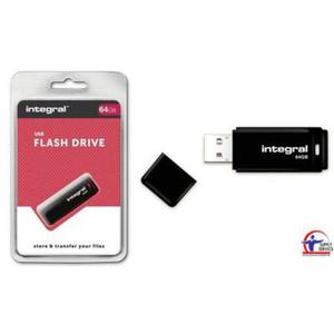 Pamięć USB INTEGRAL 64GB 2.0 BLACK INFD64GBBLK - 2881308941