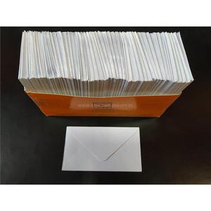 Koperta ozdobna mała na wizytówki LOGOS 110x58mm 1szt. białe - 2881748416