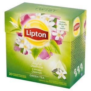 Herbata eksp. LIPTON piramidka Green Jaśmin op.20 - 2881748445