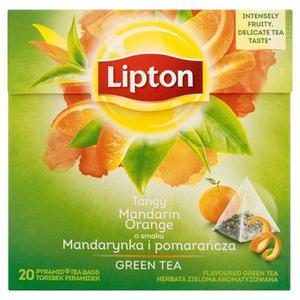 Herbata eksp. LIPTON piramidka Green Tea Mandarian - 2881748446