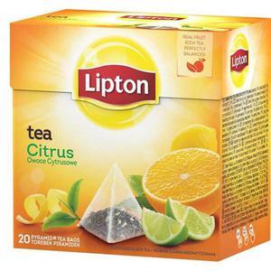 Herbata eksp. LIPTON piramidka Citrus Tea - 2881748449