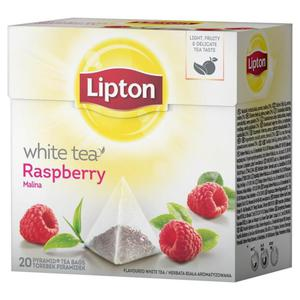 Herbata eksp. LIPTON piramidka White Tea Raspberry - 2881748459