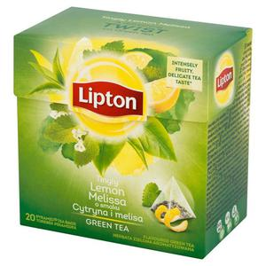 Herbata eksp. LIPTON piramidka Green Tea Melisa - 2881748462