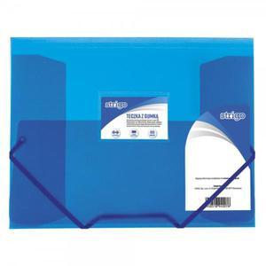 Teczka z gumką STRIGO PP A4 SF025 - niebieska - 2881748579