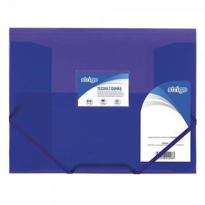 Teczka z gumką STRIGO PP A4 SF025 - fioletowa - 2881748580