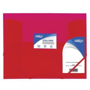 Teczka z gumką STRIGO PP A4 SF025 - różowa - 2881748581