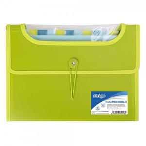 Teczka z przegródkami STRIGO A4 12p. - zielona - 2881748592