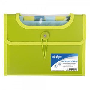 Teczka z przegródkami STRIGO A5 6p. - zielona - 2881748596