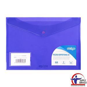 Teczka kopertowa STRIGO A4 pozioma 2 kieszenie - fioletowa - 2881748606