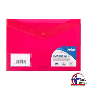Teczka kopertowa STRIGO A4 pozioma 2 kieszenie - różowa - 2881748607