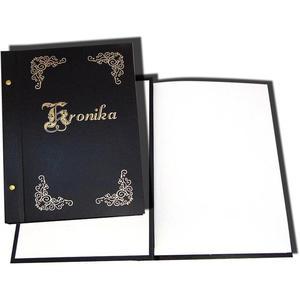 Kronika WARTA A4 250x345 złocona czarna 1829-319-020 - 2883643828