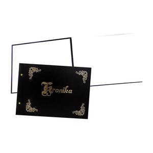 Kronika WARTA A3 415x297 pozioma złocona czarna - 2883643842