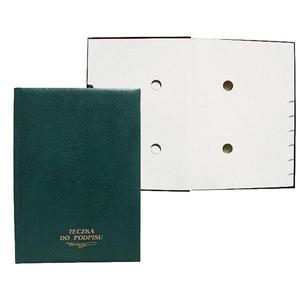Teczka do podpisu WARTA 20k. - zielona registry 1824-920-003, 004, 009, 014 - 2883643863