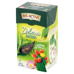 Herbata liść. BIG ACTIVE zielona z opuncją 100g. - 2883644028