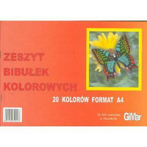Bibuła gładka GIMAR zeszyt 20 kolorów - 2883644469