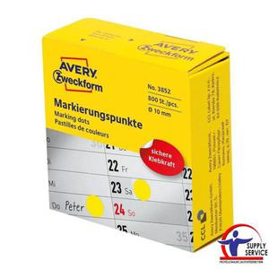 Kółka samop. AVERY-ZWECKFORM 10mm dysp. 800szt. - żółte - 2883644585