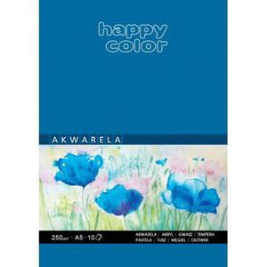 Blok do akwareli HAPPY COLOR A4 10ark. 250g. - 2883644608