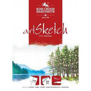 Blok szkicownik KOH-I-NOOR PoP Sketch A4 50k. 100g. - 2883644612