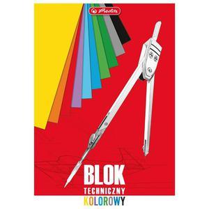 Blok techniczny HERLITZ A4 10k. Kolorowy - 2883644616