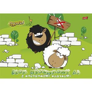 Blok rysunkowy UNIPAP A3 kolorowy - 2883644623