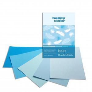 Blok techniczny HAPPY COLOR A5 Deco 5 kol. - niebieski - 2883644624