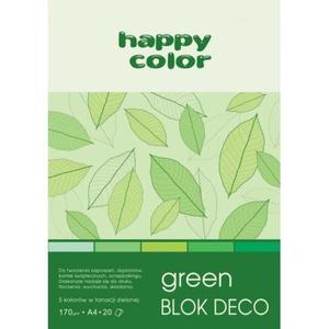 Blok techniczny HAPPY COLOR A5 Deco 5 kol. - zielony - 2883644626