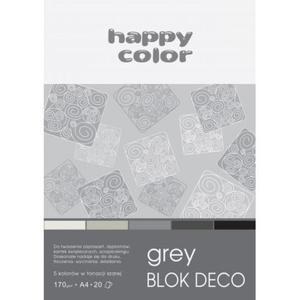 Blok techniczny HAPPY COLOR A5 Deco 5 kol. - szary - 2883644628