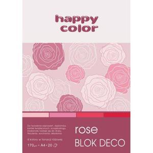 Blok techniczny HAPPY COLOR A5 Deco 5 kol. - różowy - 2883644630