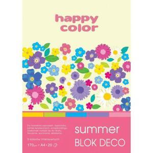 Blok techniczny HAPPY COLOR A4 Deco Summer - 2883644631