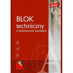 Blok techniczny UNIPAP A4 10k. - kolorowy - 2883644635