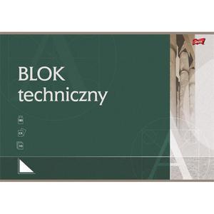 Blok techniczny UNIPAP A4 10k. - biały - 2883644641
