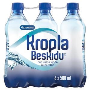 Woda KROPLA BESKIDU op.12 0,5l. gazowana - 2883644910