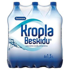 Woda KROPLA BESKIDU op.6 1,5l. gazowana - 2883644912