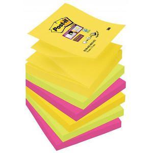 Karteczki samop. POST-IT Super sticky Z-Notes R330-6SS-RIO, 76x76mm, 6x90 kart., paleta Rio de Janeiro - 2883646090