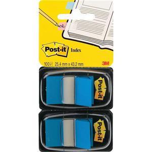 Zakładki indeksujące POST-IT 680-B2EU PP 25x43mm 2x50 kart. niebieskie - 2883646094