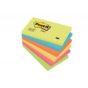 Karteczki samop. POST-IT 655-TFEN, 127x76mm, 6x100 kart., paleta energetyczna - 2883646099