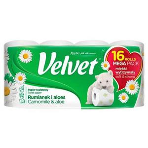 Papier toaletowy VELVET Rumianek i Aloes op.16szt. biały - 2883646169