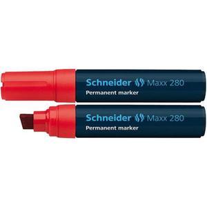 Marker SCHNEIDER permane. 280 ścięty czerwony - 2883646173