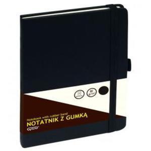 Notatnik GRAND z gumką A5 czarny kratka 150-1381 - 2884982345