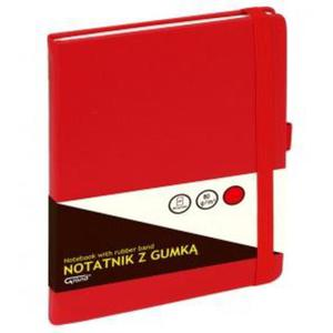 Notatnik GRAND z gumką A5 czerwony kratka 150-1382 - 2884982346