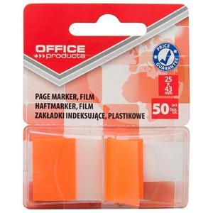 Zakładki index OFFICE PRODUCTS PP 25x43mm 1x50 kart. pomarańczowe - 2884982547
