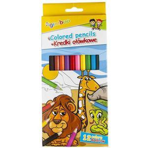 Kredki ołówkowe GIMBOO sześciokątne 12szt. mix kolorów - 2884982560