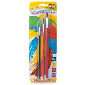Pędzelki GIMBOO No. 4-6-10 3 szt. blister mix kolorów - 2884982567
