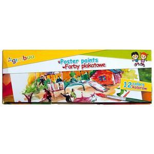 Farby plakatowe GIMBOO 12x20ml mix kolorów - 2884982577