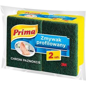 Gąbka do zmywania PRIMA profilowana 2szt. żółta - 2891742870